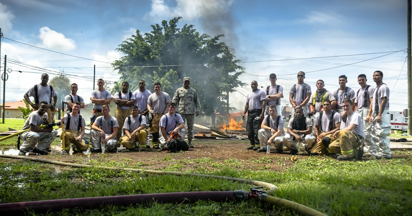 The 612th Air Base Squadron Fire Department host a public fire training at Soto Cano Air Base, June 16, 2017.
