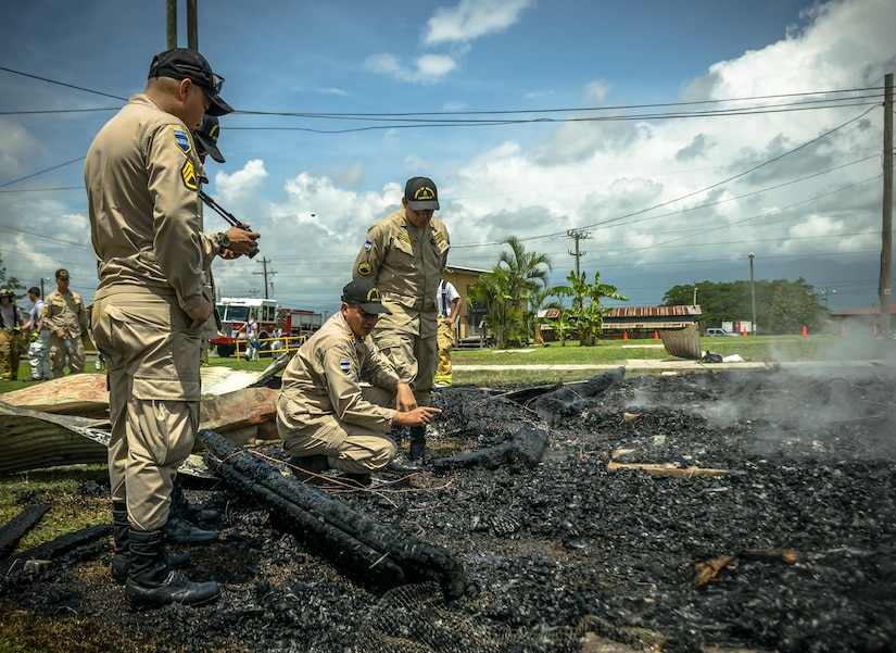 The Siguatepeque and Comayagua Fire Department train with the 612th Air Base Squadron on fire inspecting. The 612th ABS Fire Department host a public fire training at Soto Cano Air Base, June 16, 2017.