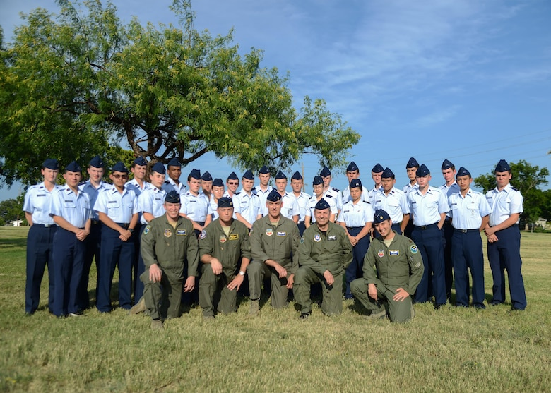 A class of 30 Civil Air Partol cadets graduated from a week-long immersion course at Laughlin Air Force Base, Texas, June 16, 2017. Cadets in the Specialized Undergraduate Pilot Training Familiarization Course experienced a condensed version of what actual pilot trainees at Laughlin go through in their 52-week training. Those who attended the SUPT-FC had an opportunity to learn emergency procedures, flying patterns, weather analysis and flight simulation just like a Laughlin pilot would. (U.S. Air Force photo/Airman 1st Class Benjamin N. Valmoja)