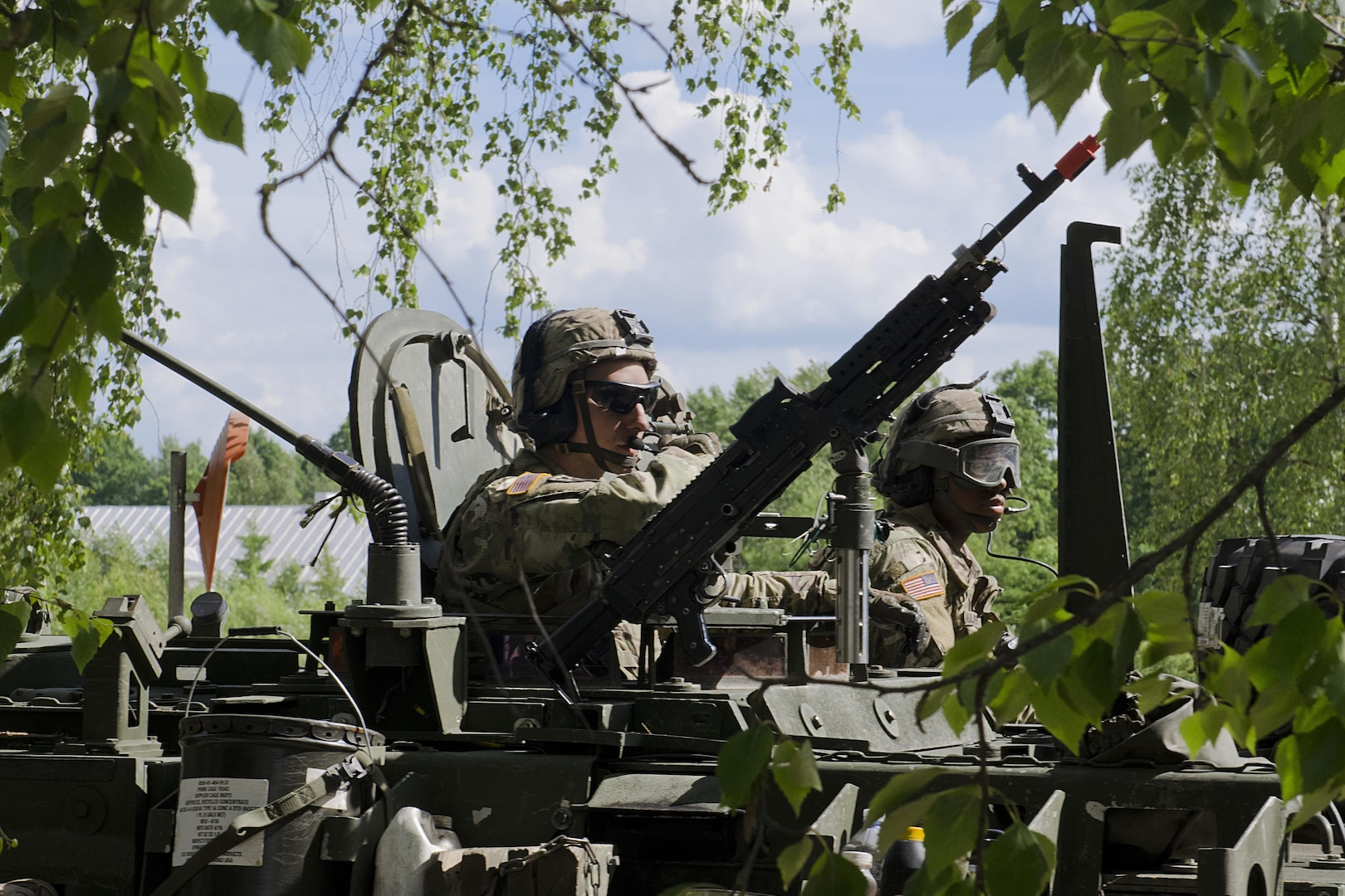 Soldiers with Enhanced Forward Presence Battle Group Poland arrive in Rukla, Lithuania, after 2-day tactical road march across Eastern Europe, June 18, 2017, as part of exercise Saber Strike 17 (U.S. Army/Justin Geiger)