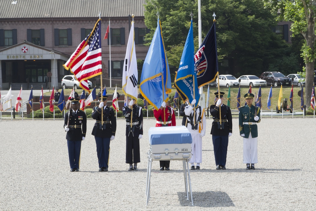 Ministry of National Defense and United Nations Command hosted a repatriation ceremony at U.S. Army Garrison Yongsan, Republic of Korea, June 22. Service members attended the ceremony to bid farewell to a fallen hero who fought during the Korean War. 