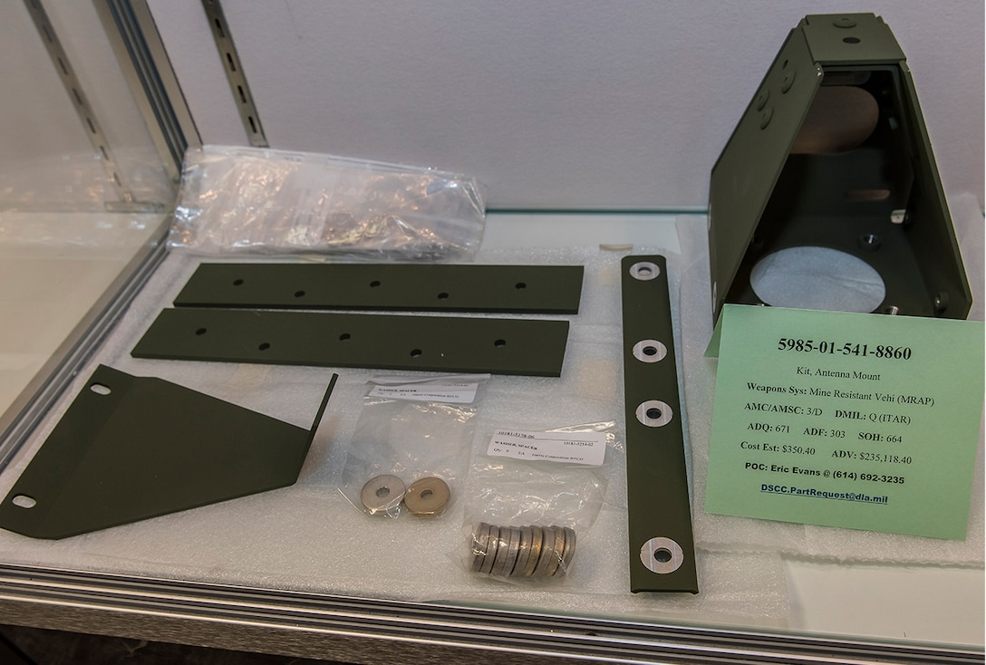 5985-01-541-8860 kit, antenna mount Weapons System: Mine Resistant Vehi (MRAP) AMC/AMSC: 3/D  -  DMIL: Q (ITAR)  -  ADQ: 671  -  ADF: 303  -  SOH: 664  -  Cost Est: $350.40  -  ADV: $235,118.40 dscc.partrequest@dla.mil