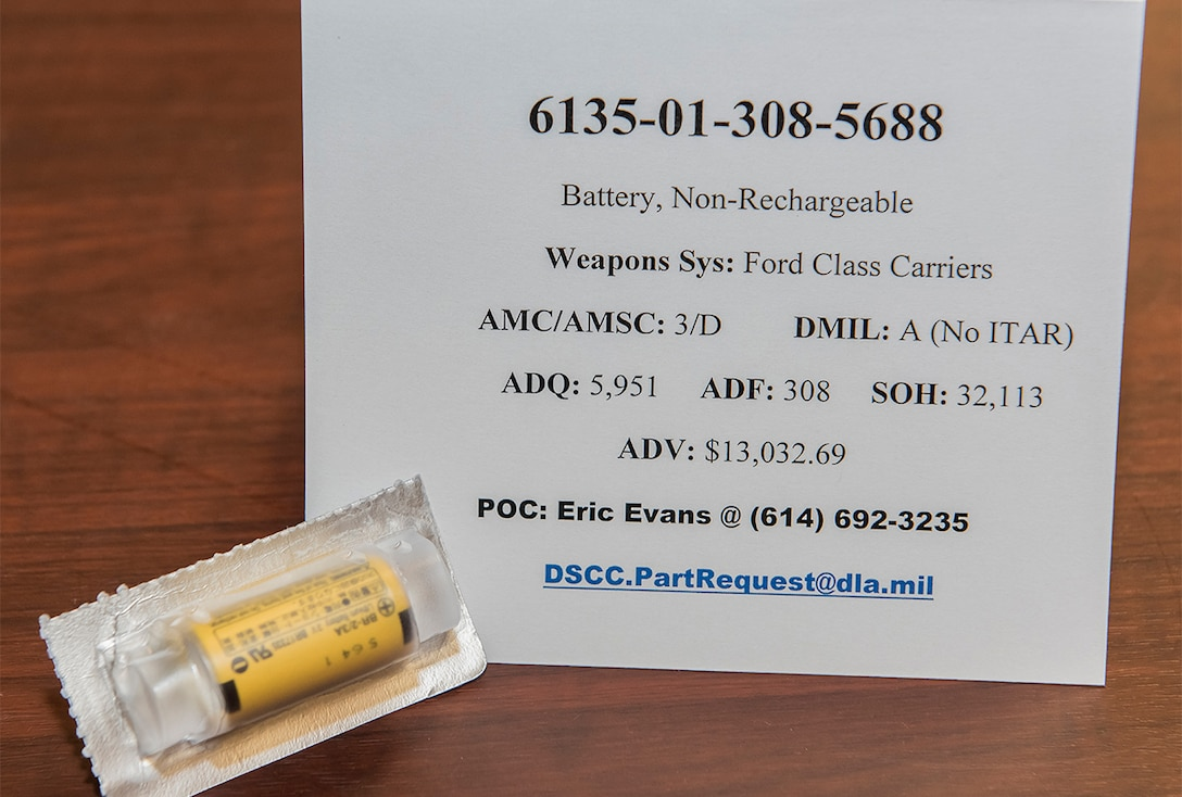 6135-01-308-5688 battery, non-rechargeable