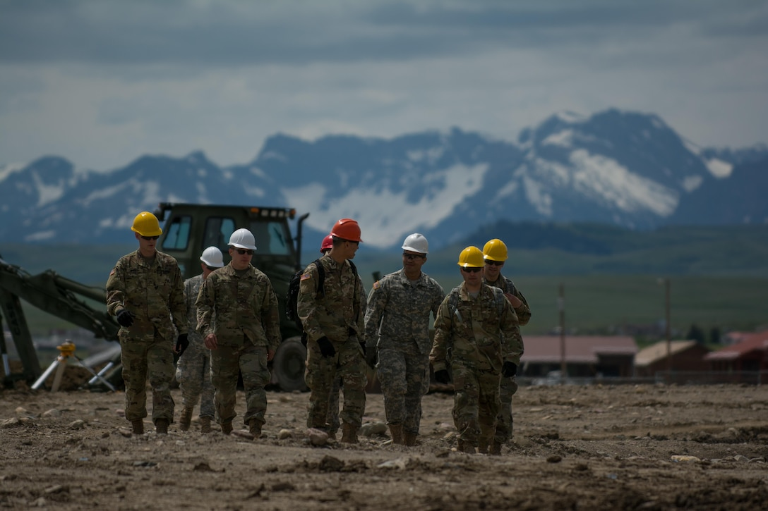 Soldiers from the 317th Engineer Company move from one training location to another, as they continue to re-familiarize themselves with the equipment they will be using during the Innovative Readiness Training (IRT) they will take part in. The IRT project produces military readiness while simultaneously providing quality services to communities throughout the U.S. This particular project takes place on the Blackfeet Reservation in Browning, Montana during the months of June thru August (U.S. Army photo by Staff Sgt. Jason Proseus/released).