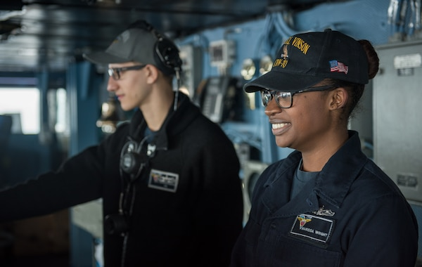 Navy Updates Wear of Earrings and Ball Caps for Women > Joint Base