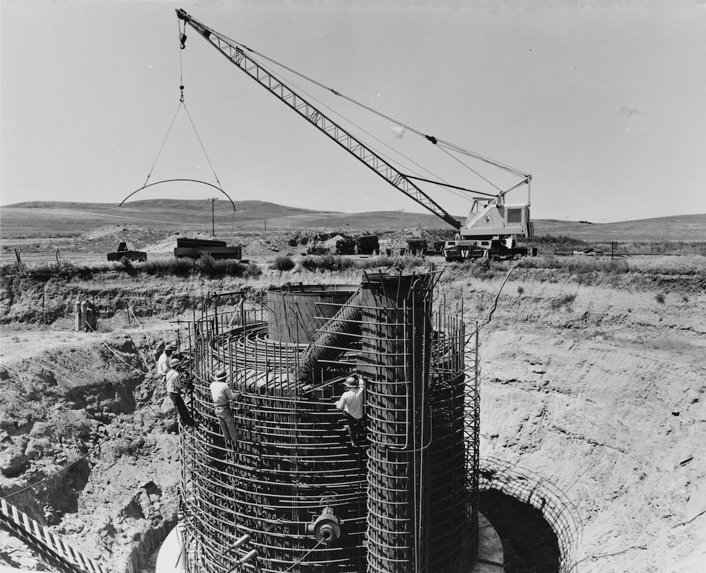 A Minuteman launch facility under construction, circa 1962. (Photo courtesy Library of Congress)