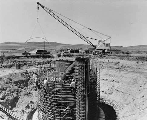 A Minuteman launch facility under construction, circa 1962. (Photo courtesy Library of Congress)