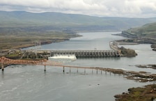 The Dalles Lock and Dam is located 192 miles from the mouth of the Columbia River. The spillwall was constructed in 2010 to help guide juvenile fish away from shallow areas where predators waited and into the deeper part of the river.