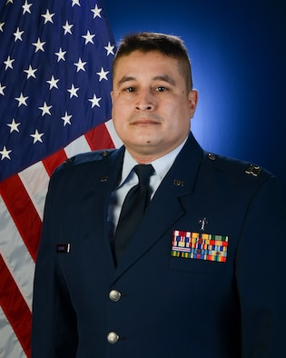 The official portrait of U.S. Air Force Capt. Jose Martinez, a chaplain with the 139th Airlift Wing, Missouri Air National Guard.(U.S. Air National Guard photo by: Staff Sgt. Patrick P. Evenson/Released)