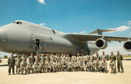 Air Force Academy cadets toured a C-5M Super Galaxy aircraft at the 433rd Airlift Wing June 21, 2017 at Joint Base San Antonio-Lackland, Texas. The third-year cadets are visiting operational units throughout the U.S.to get a better understanding of the different careers available in the Air Force. (U.S. Air Force photo by Benjamin Faske)