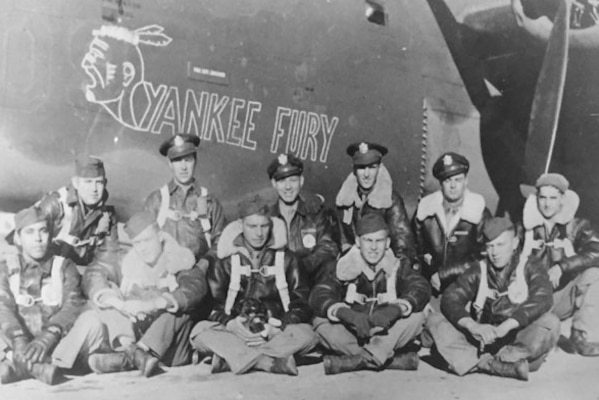 Staff Sgt. Byron H. Nelson (Front row, center)