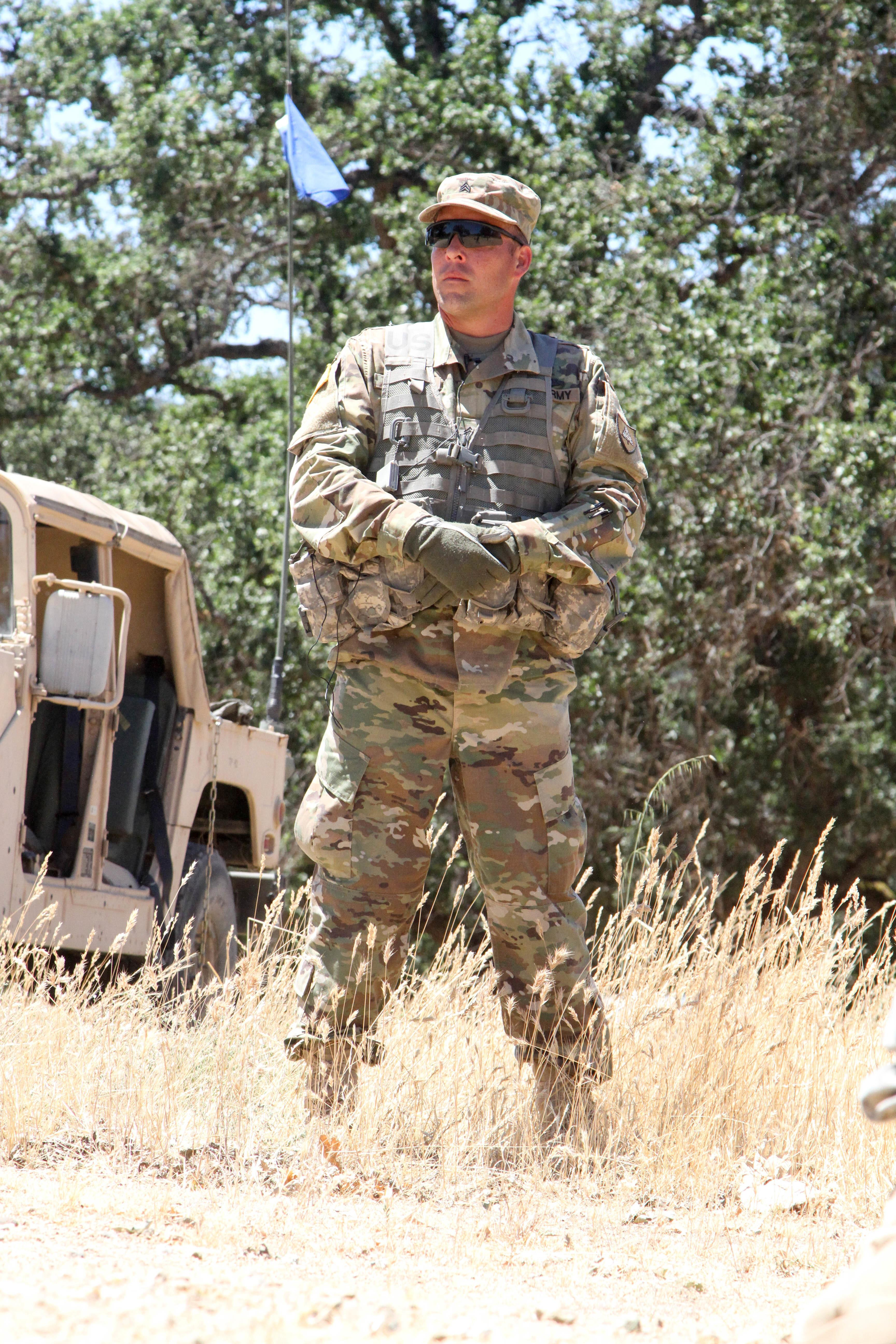 US Army Reserve Sgt David Terow An Observer Coach Trainer With The