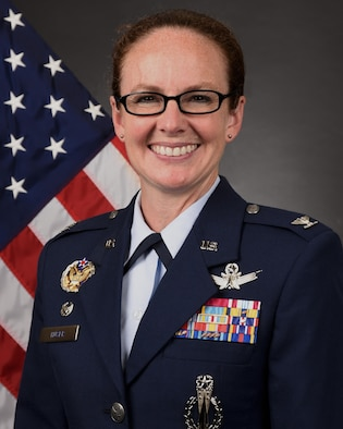 Colonel Stacy J. Huser, 90th Missile Wing commander. (U.S. Air Force photo by Glenn Robertson)