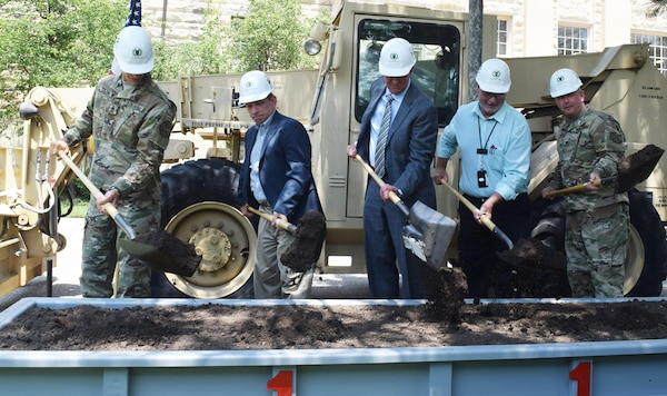 Fort Riley leaders, partners break ground on energy saving contract