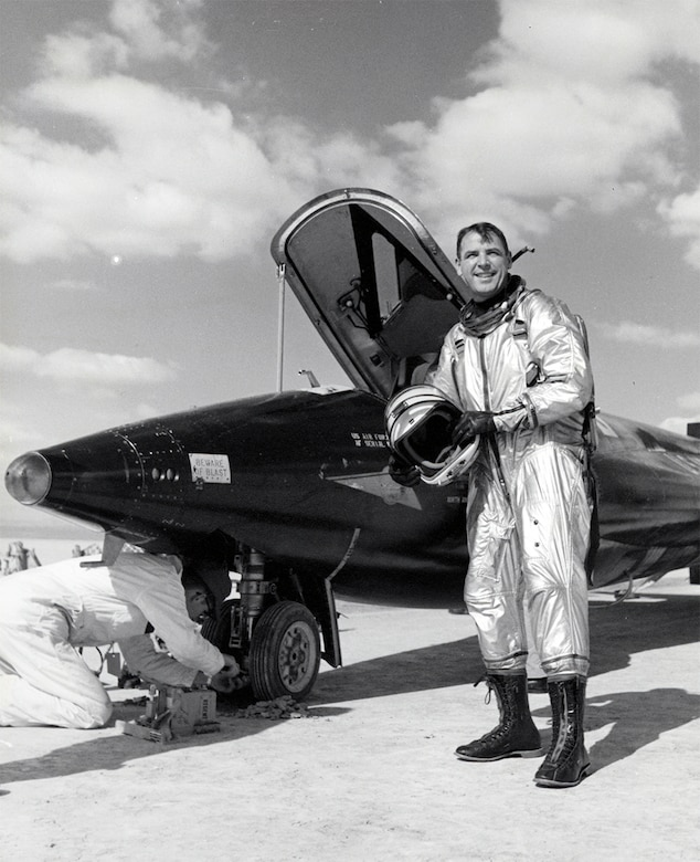 On June 23, 1961 Major Robert M. White became the first person to exceed Mach 5 when he flew the X-15 to a speed of Mach 5.27 (3,603 mph).