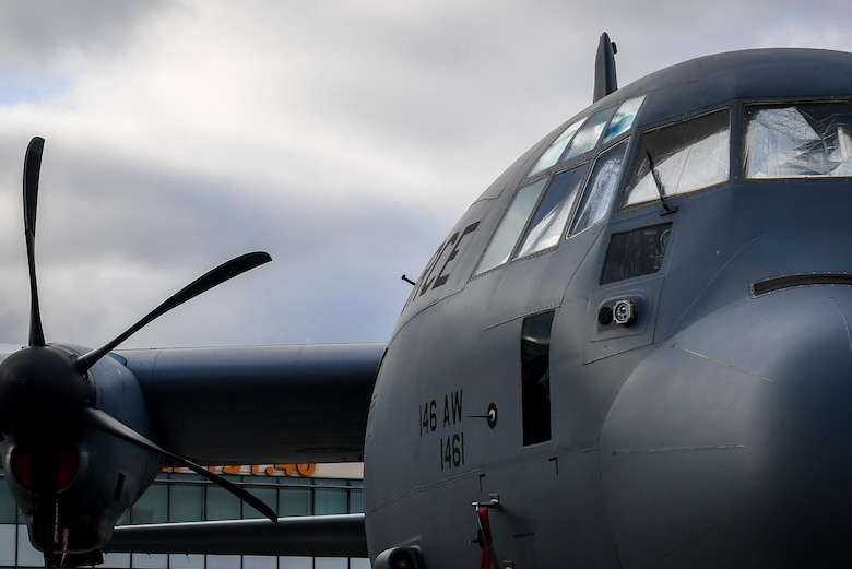 A C-130J Super Hercules from Channel Islands, California, is on display at Le Bourget Airport, France during the Paris Air Show, June 23, 2017. The Paris Air Show offers the U.S. a unique opportunity to showcase their leadership in aerospace technology to an international audience. By participating, the U.S. hopes to promote standardization and interoperability of equipment with their NATO allies and international partners. This year marks the 52nd Paris Air Show and the event features more than 100 aircraft from around the world. (U.S. Air Force photo/ Tech. Sgt. Ryan Crane)