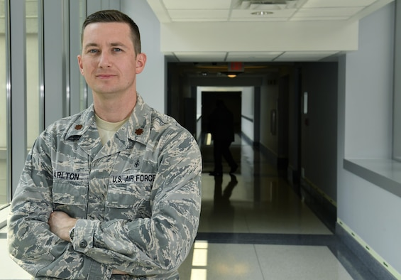 Maj. S. Brint Carlton, an Individual Mobilization Augmentee vacancy with the Air Force Medical Operations Center at the Pentagon, Washington, D.C., is also the county judge in Orange County, Texas.