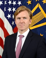 Elbridge Coby, Deputy Assistant Secretary of Defense, Strategy and Force Development, Department of Defense, poses for his official portrait in the Army portrait studio at the Pentagon in Arlington, Virginia, June 22, 2017.  (U.S. Army photo by Monica King/Released)