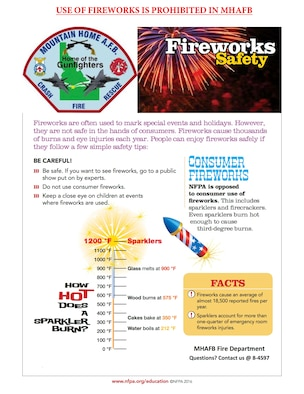 Fireworks Safety with MHAFB Fire Dept.