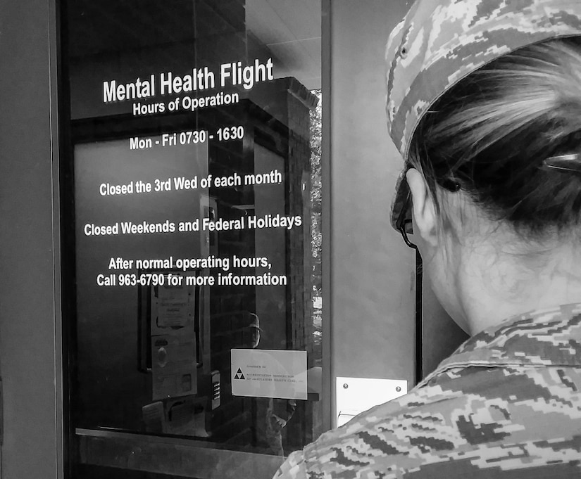 An Airman walks into Joint Base Charleston's mental health clinic on post-traumatic stress awareness day June 27, 2017. Although PTSD may be associated with combat and the military, non-combat related incidents such as assaults, natural disasters, abuse and accidents can also cause the onset of the disorder. Starting in 2010, Congress named June 27 PTSD Awareness Day. In 2014, the Senate designated the full month of June for National PTSD Awareness to promote effective treatment of the disorder throughout the year.