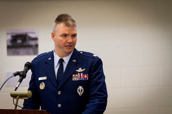 CAVALIER AIR FORCE STATION, ND -- Col. Devin Pepper, 21st Operations Group Commander, congratulates the inbound Commander of the 10th Space Warning Squadron, Lt Col Stephen Hobbs, at a change of command ceremony, June 23, 2017, at Cavalier Air Force Station, N.D.  The 10th SWS operates and maintains the world's most capable phased-array radar system at the Air Force's only CONUS Isolated installation.  The Perimeter Acquisition Radar Attack Characterization System continuously provides critical missile warning and space surveillance data to North American Aerospace Defense Command, United States Strategic Command, and regional combatant commanders.  PARCS monitors and tracks more than half of all earth-orbiting objects to enable space situational awareness and space control.