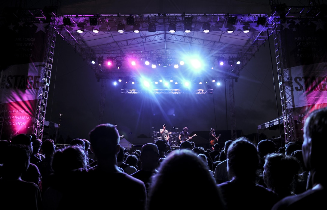 Rock band 3 Doors Down performs during Freedom Fest at Hurlburt Field, Fla., June 24, 2017. Events like Freedom Fest are designed to build resilience at Hurlburt Field, the most deployed base in the Air Force, by focusing on family and friends while celebrating our nation's independence. (U.S. Air Force photo by Airman 1st Class Dennis Spain)
