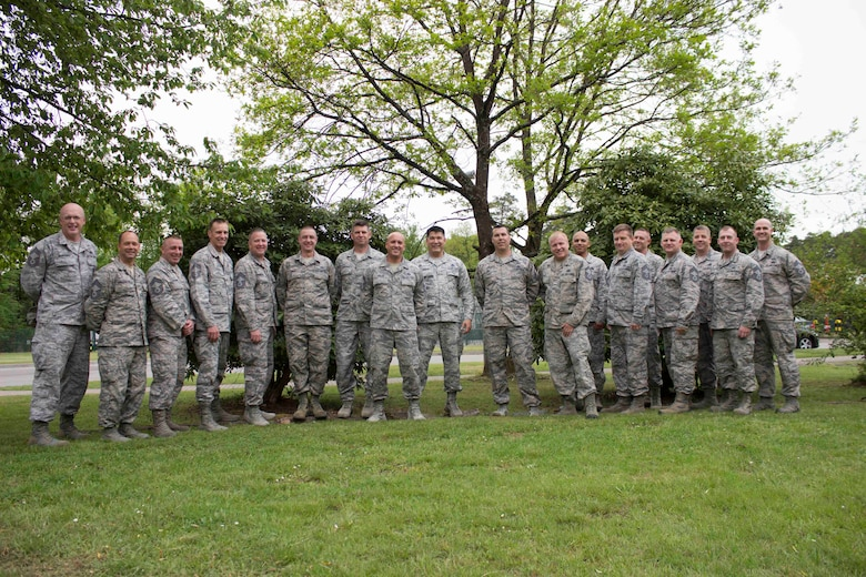 Members of the Air Force Civil Engineer Center's force development division gathered recently at Ramstein Air Base, Germany, for the annual Education Training and Review Committee with civil engineer senior enlisted leaders. The group met to significantly improve enlisted training and strengthen the Air Force CE community. (U.S. Air Force photo/Susan Lawson)