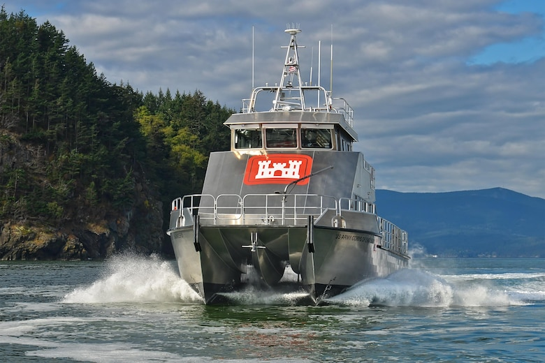 The USACE Marine Design Center oversaw construction of the USACE Survey Vessel H.R. SPIES for the USACE Philadelphia District. The vessel will be used to survey the federal channel of the Delaware River & Bay and the Chesapeake & Delaware Canal.