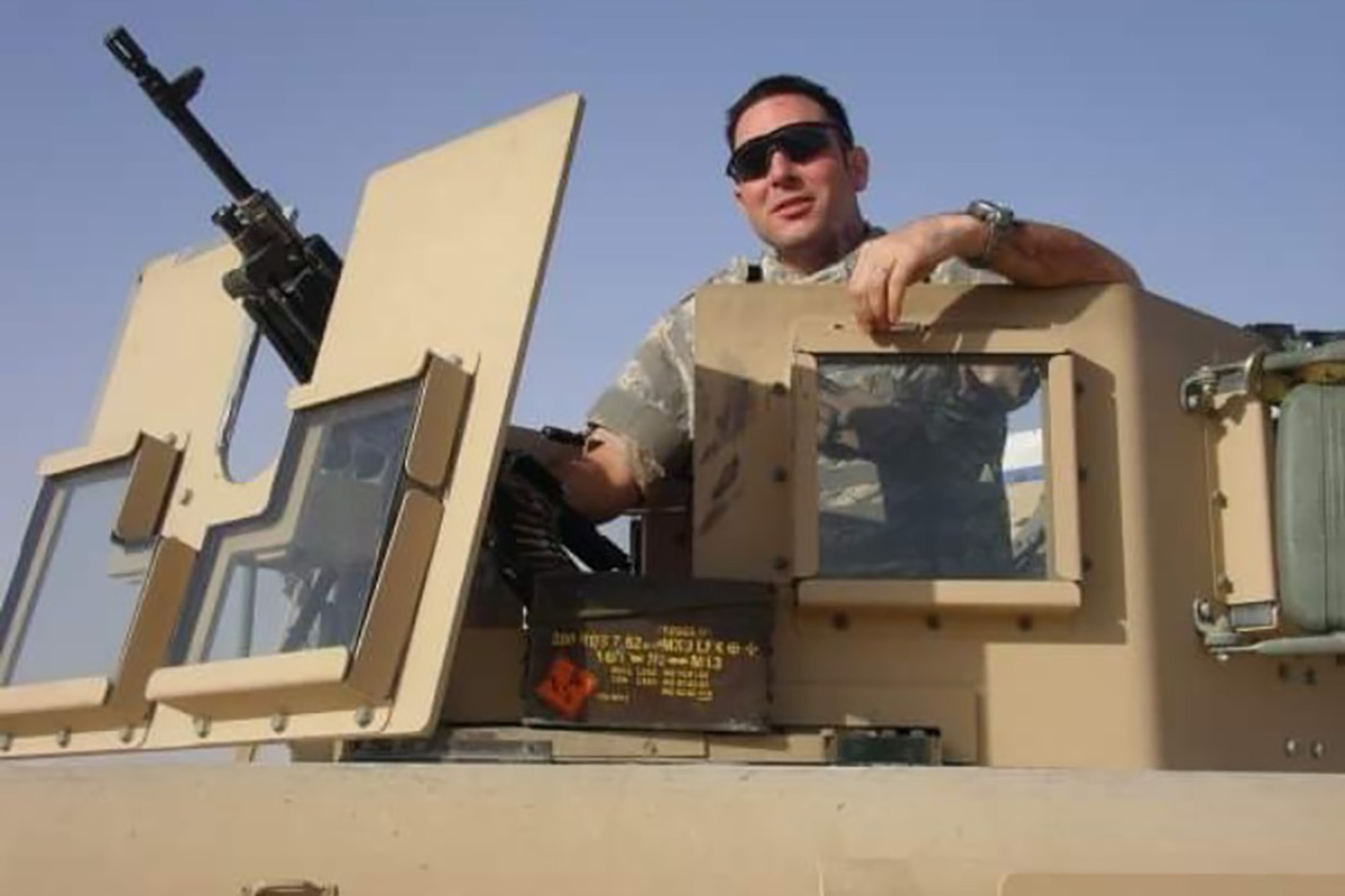 Staff Sgt. Christopher D'Angelo, an 819th RED HORSE Squadron heavy equipment operator, was injured by an improvised explosive device Jan. 15, 2008. To help combat D'Angelo's emotional and physical struggles, he began competing in wounded service member events. (Courtesy photo)