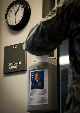The 919th Special Operations Wing commander has a direct line made available to all personnel through the use of suggestion boxes placed throughout the base such as the dining facility, gym, and customer service. To receive a personal response when using the commander's suggestion box, leave your name, unit, and telephone number. Responses regarding information of general interest to the community, submitted anonymously, will be published on the 919th SOW SharePoint page. (U.S. Air Force photo/Tech. Sgt. Jasmin Taylor)