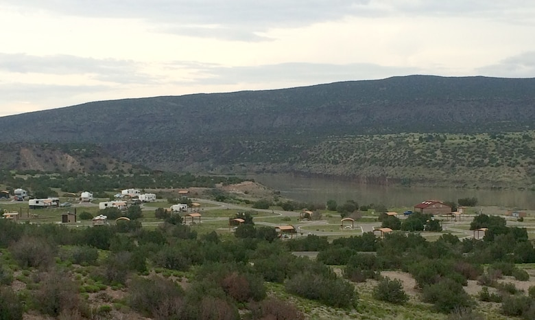 View of the campground at Cochiti Lake.
