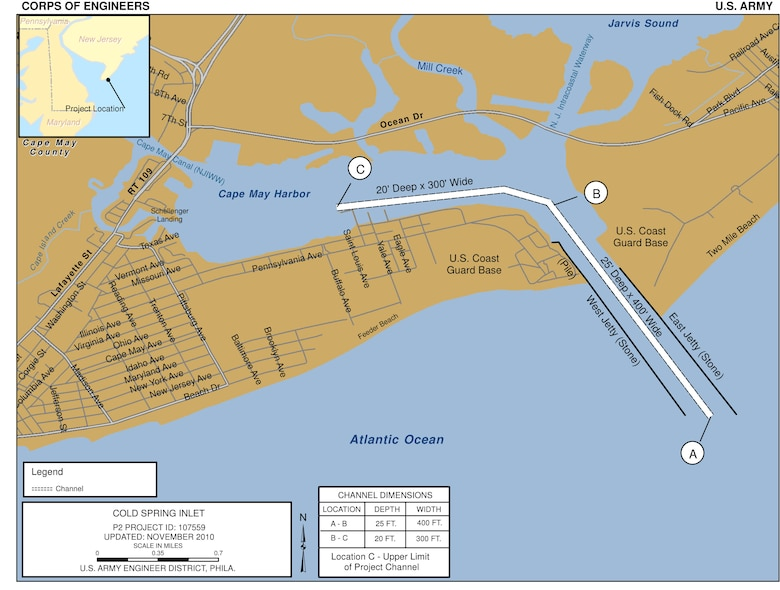 Cold Spring Inlet Project Index Map