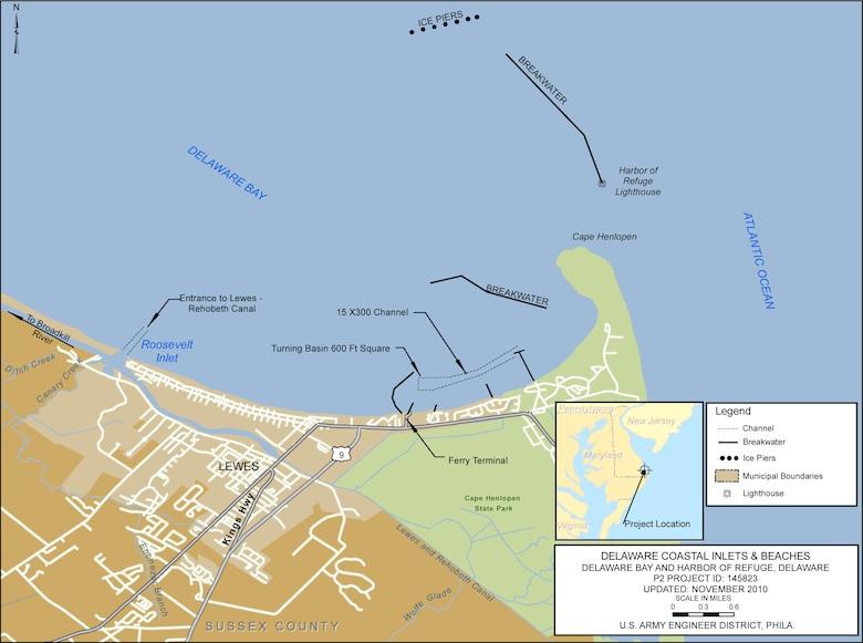 Harbor of Refuge Project Index Map