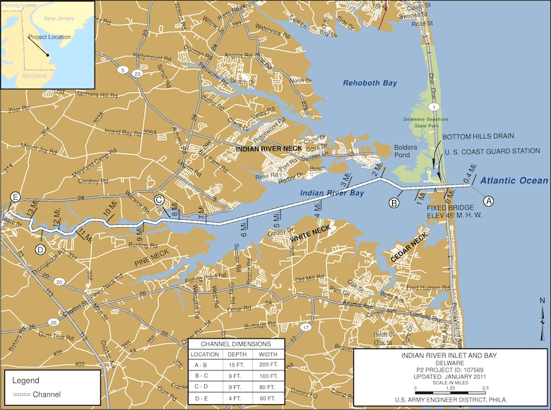 Indian River Inlet & Bay Project Index Map