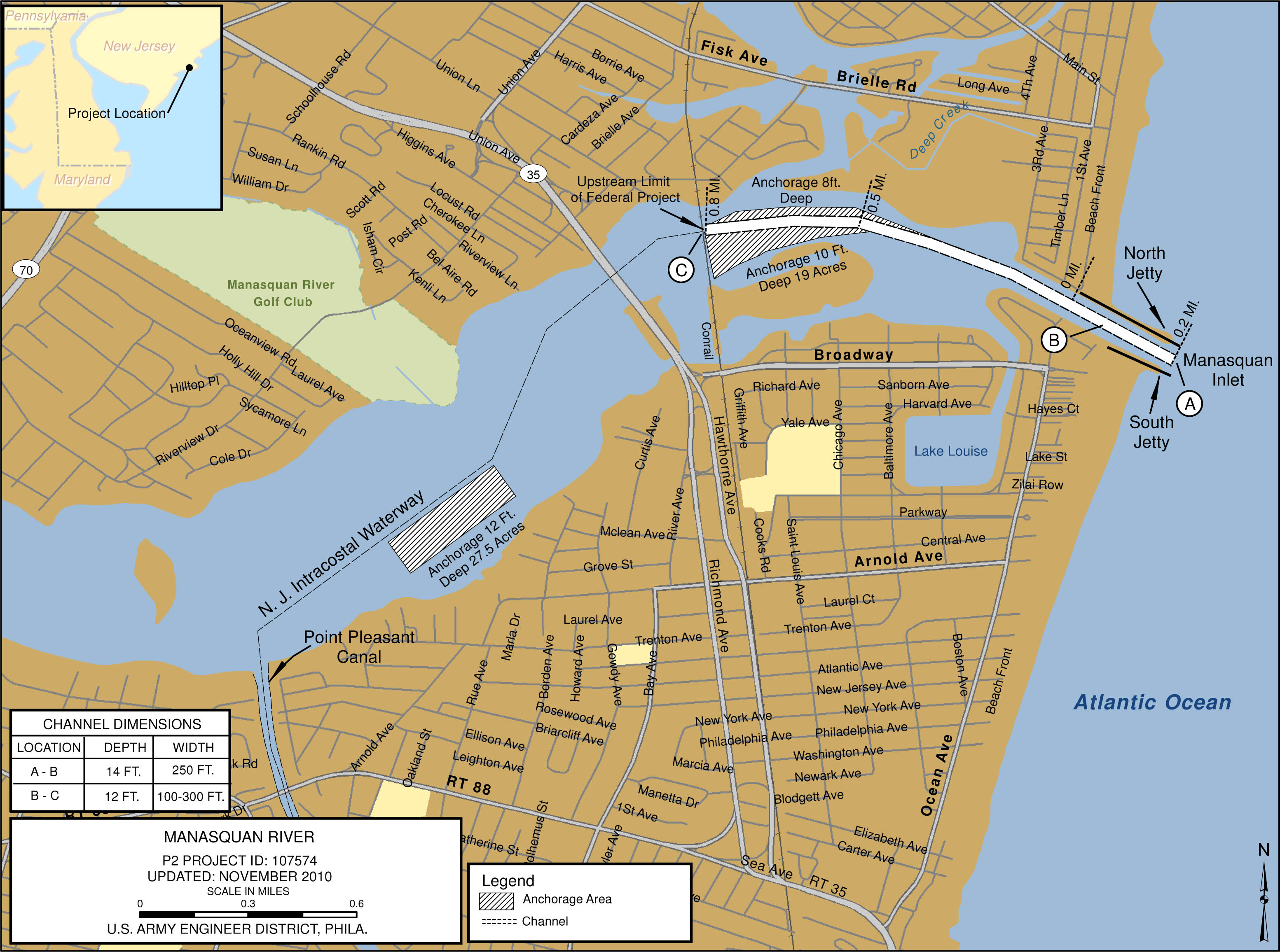 Manasquan River Philadelphia District Fact Sheet Article View
