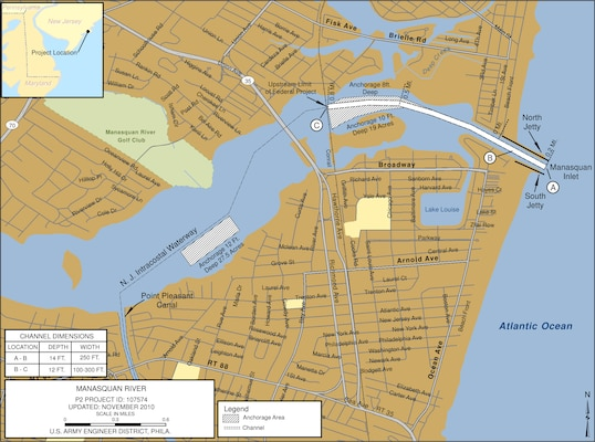 Manasquan River Philadelphia District Fact Sheet Article View