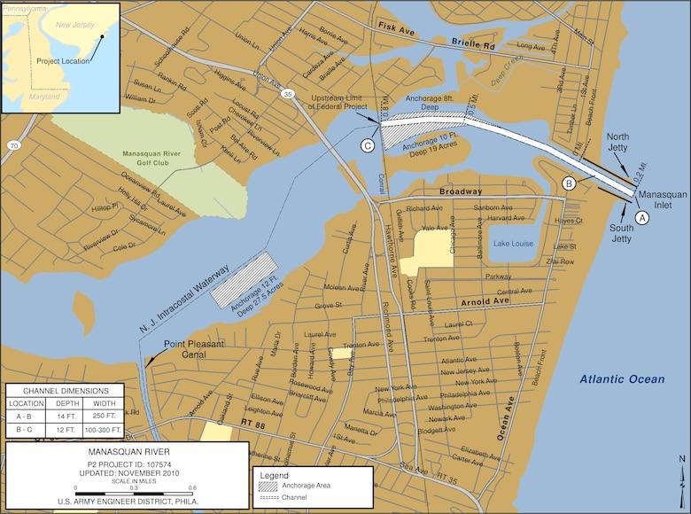 Manasquan River Project Index Map