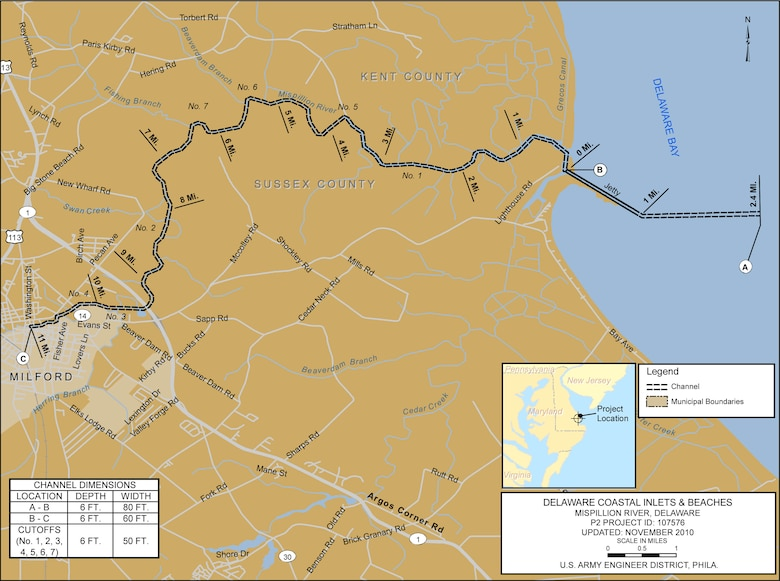 Mispillion River Project Index Map