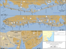 New Jersey Intracoastal Waterway Project Index Map