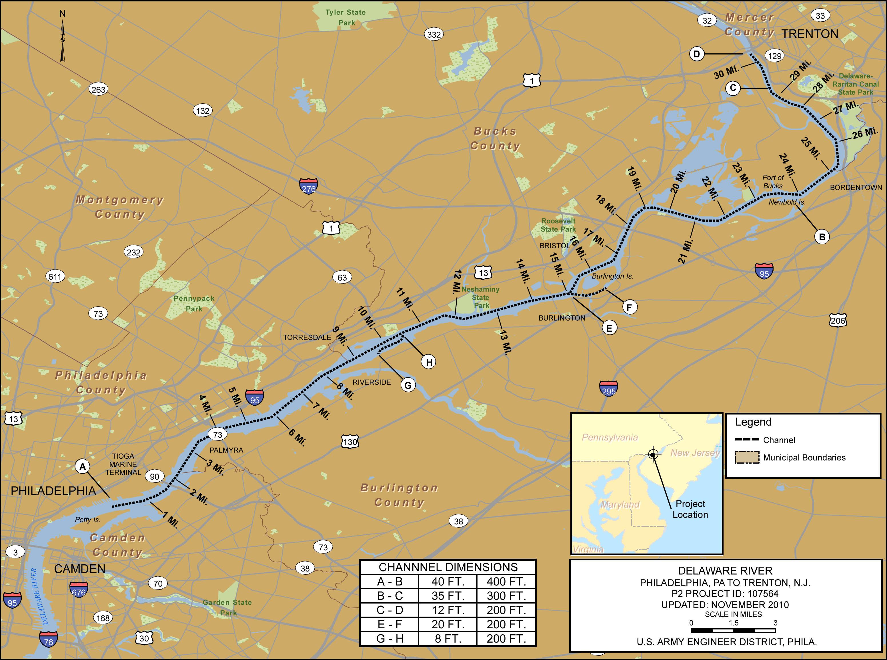 Delaware River Philadelphia to Trenton Philadelphia District