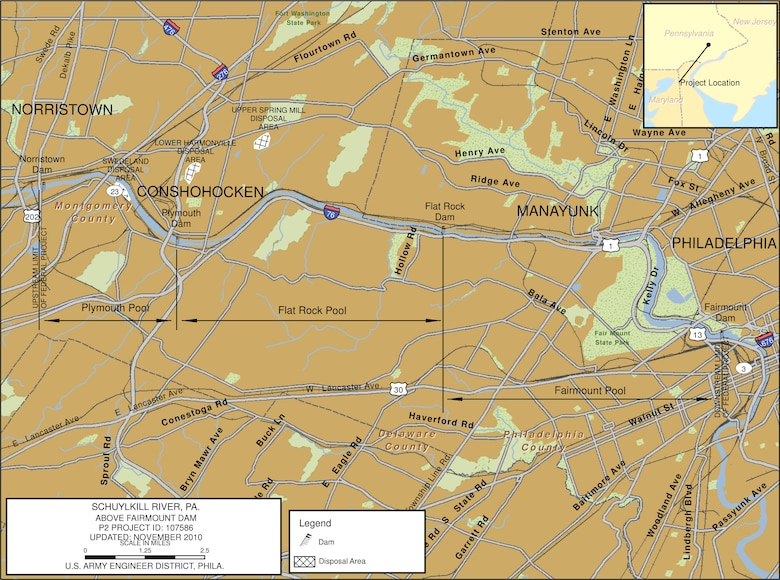 Schuylkill River Project Index Map