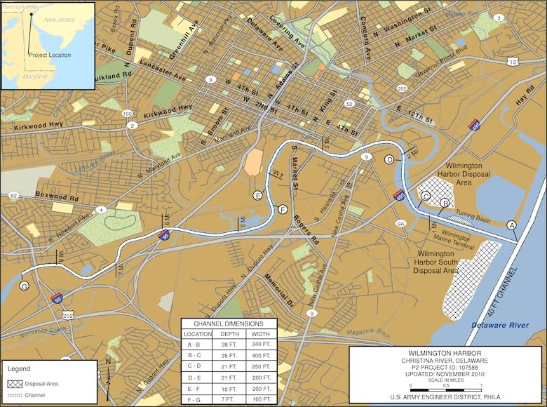 Wilmington Harbor Project Index Map