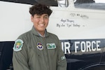 Angel Vasquez is the June 29, 2017 12th Flying Training Wing pilot for a day at Joint Base San Antonio-Randolph. The Pilot for a Day program participants battle a variety of illnesses and diseases, to include terminal illnesses. For many children with severe, but not terminal illnesses, the program is a significant milestone in their recovery. (U.S. Air Force photo by Sean Worrel)