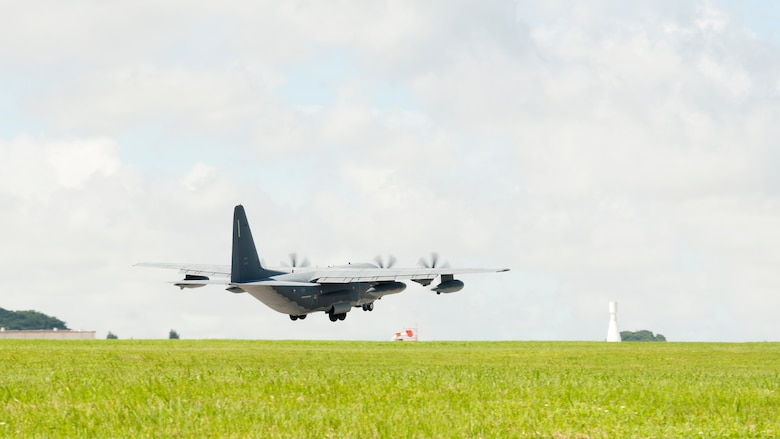 A U.S. Air Force 17th Special Operations Squadron MC-130J Commando II aircraft takes off for a training mission from Kadena Air Base, June 22, 2017. The MC-130J Commando II has been a part of the fleet at Kadena since 2014 and provides special operations forces with a versatile and robust airframe capable of providing night or day, all-weather aerial support. (U.S. Air Force photo/ Airman 1st Class Greg Erwin)