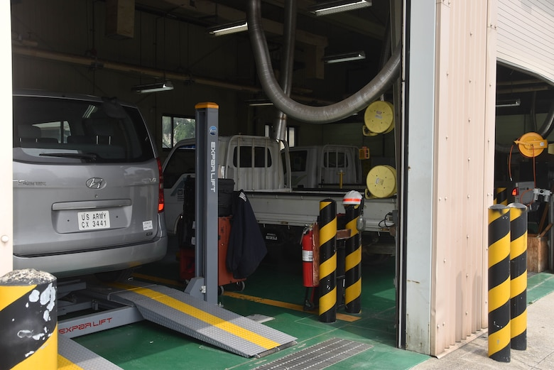 The current vehicle maintenance facility located at the Far East District compound Seoul, South Korea.