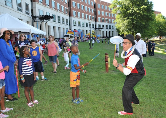 A variety of entertainers kept children occupied during the event.