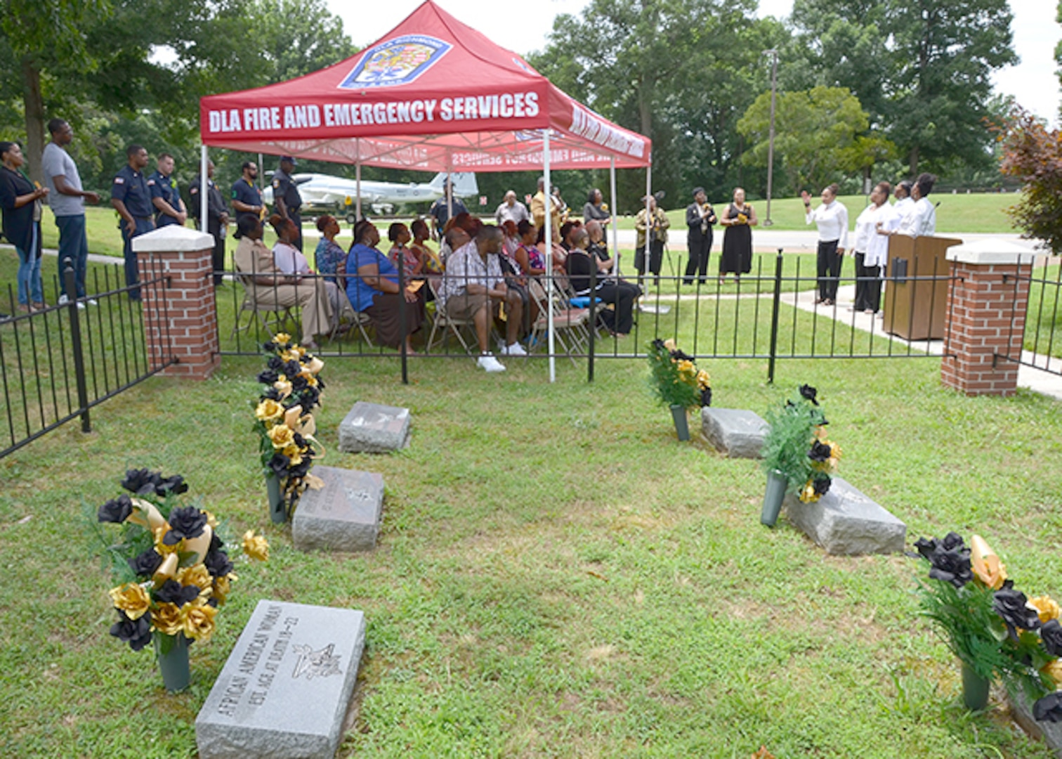 Defense Logistics Agency Aviation's Bellwood Chapter of Blacks in Government conducted a Juneteenth Observance ceremony on June 23, 2017 at the African-American gravesite on Defense Supply Center Richmond, Virginia. The ceremony celebrates African-American Emancipation Day, which is June 19, 1865.