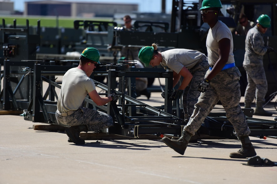 Members of the 509th Munitions Squadron participate in Global Strike Challenge (GSC) at White­man Air Force Base, Mo., June 20, 2017. Airmen are hand-selected to compete in GSC from their units.