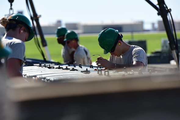 Members of the 509th Munitions Squadron participate in Global Strike Challenge (GSC) at Whiteman Air Force Base, Mo., June 20, 2017. Airmen are hand-selected to compete in GSC from their units.