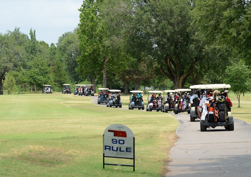 Approximately 232 men and women participated in Tinker's 75th Anniversary 4-Person Scramble Golf Tournament June 23 at the Tinker Golf Course.